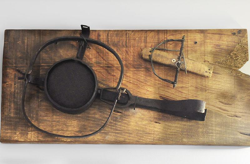 Cepos antiguos que se utilizaban para la caza en Malpartida de Plasencia.